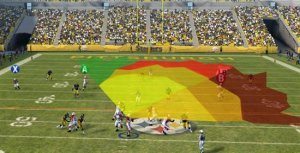 "Kurt Warner's ""QB Vision,"" also known as the ""Jesus Cone."" (EA)"