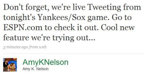Another platform to ignore Yanks/Sox on!